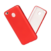 2017 pure color simple design soft TPU silver bottom phone Case cover for REDMI 4X