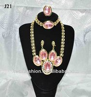 2014 indian pink world imitation jewelry set