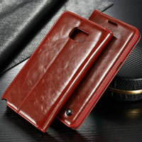 Standable Wallet Leather Case for Samsung Galaxy Note 5 4 Colors