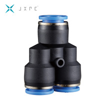 "Quick connect 6MM pipe fittings 1/4""; Thread connector types various Type male Tee tube"