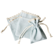 67574 Blue cotton Accessories Jewelry Package 3 pcs Fabric Jewelry bag