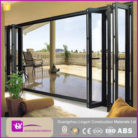 Good quality folding aluminium doors and windows modern house aluminum glass windows and doors