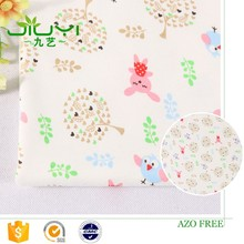 wholesale cheap custom printed animal forest interlock japanese printed cotton fabric