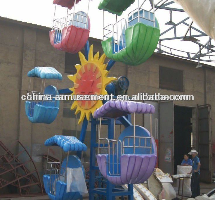 Amusement park equipment kiddie rides mini ferris wheel for sale