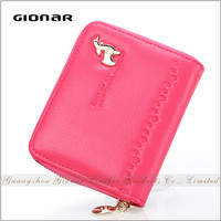 Guangzhou Factory High Quality German Women Genuine Engraved Leather Wallet