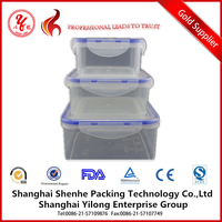 plastic food container microwaveable food grade 3pcs plastic food container