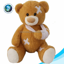 Various cheap giant teddy bear toy customized cute injured soft stuffed plush teddy bear
