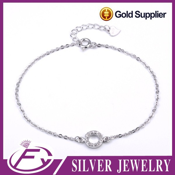 Simple design 925 sterling silver nomination bracelets charms wholesale