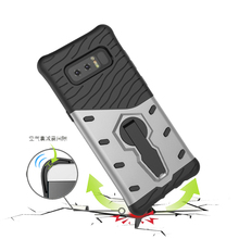 Galaxy Note 8 Case Hybrid Combo Robot Armor Rotate Kickstand Case For Samsung Note 8 Phone Cover