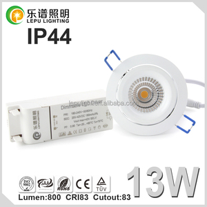 IP44 led lighting 83mm Cutout led downlight cob dimmable 8W 13W 2700K Reflector Lens version option