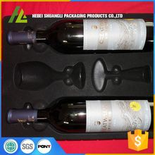 blister plastic flocking cosmetic packaging boxes tray for wine box
