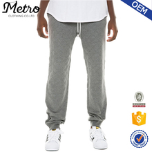 Grey Quilted Cotton Men's Casual Jogger pants Wholesale
