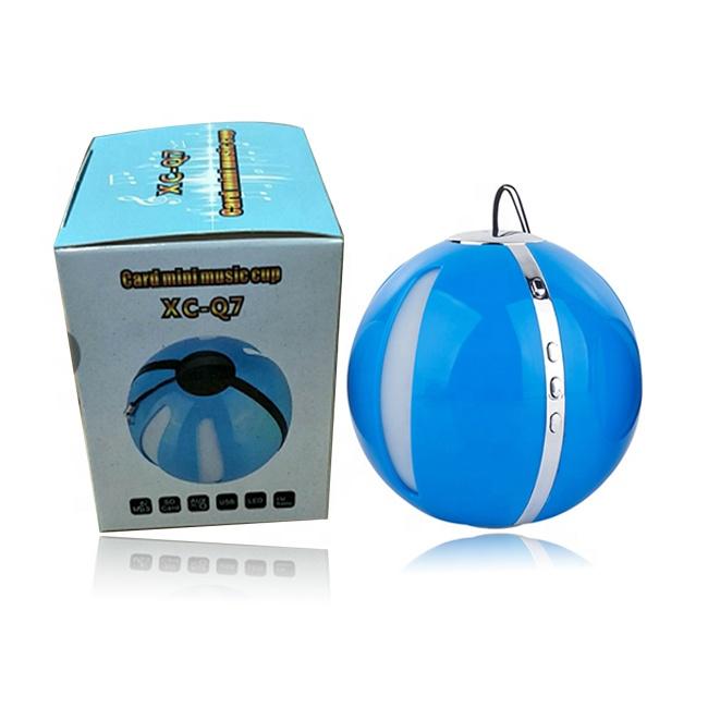high quality Q7 wireless BT stereo subwoofer portable mini small round speaker for iphone - idealSpeaker.net