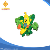 various shape custom soft PVC fruit fridge magnet
