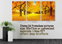 PET frameless picture with deep 3d effects