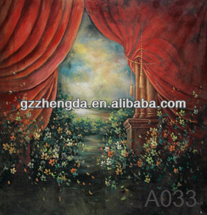 China Suppliar Product Art Painting Photo Backdrops For Palace People