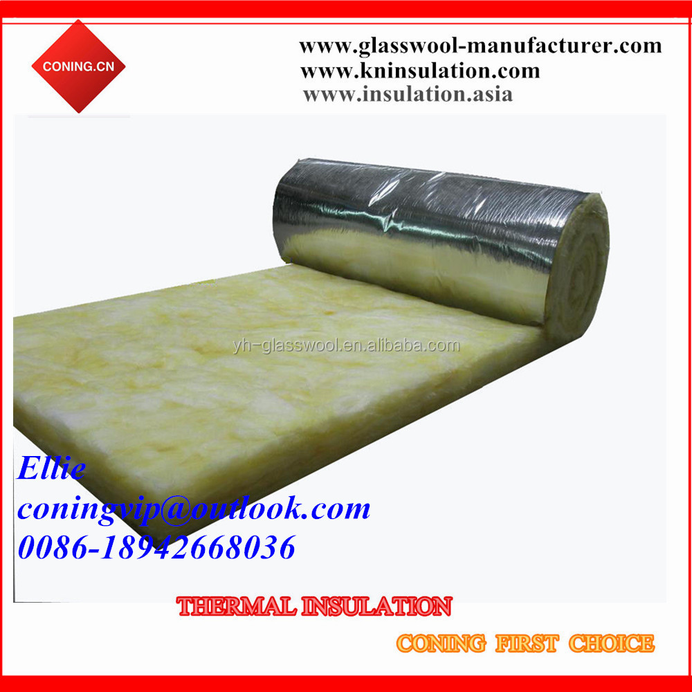 Glass wool with hot sealed Alum.foil for air duct insulation
