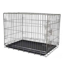 stainless steel heavy duty crate kennel heateddog kennel large metal dog house