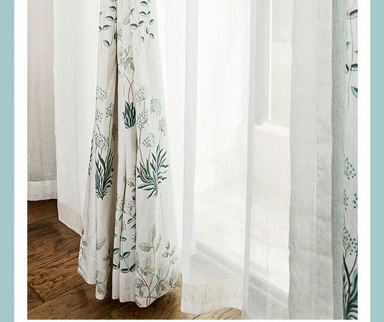 2016 new design printed linen curtain fabric drapery and curtain