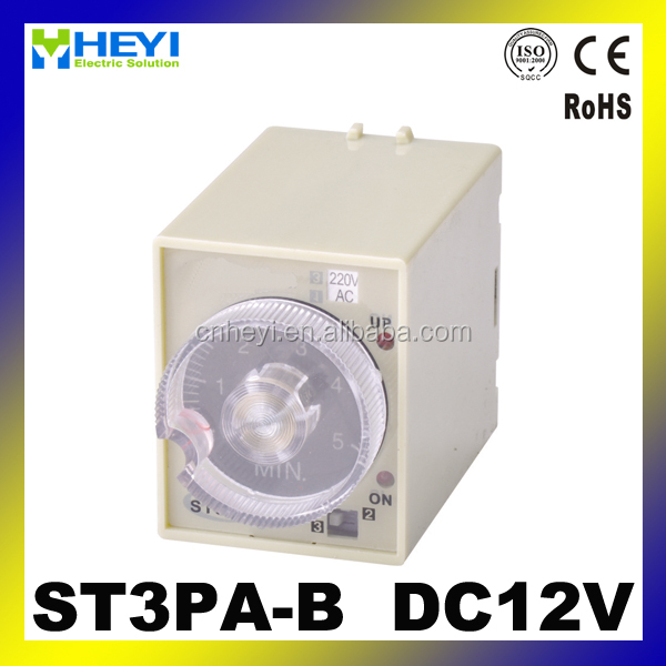 12V time delay relay mini time relay DC12V timer relay ST3PA-B