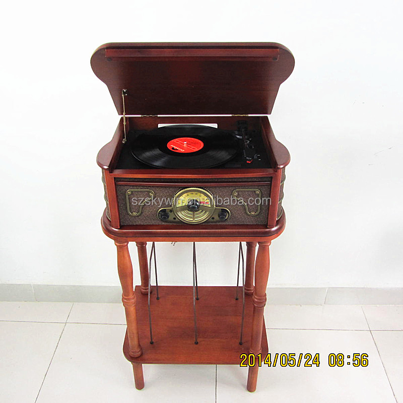 2014 Newest Retro wooden bluetooth vinyl record player, phonograph , gramophone