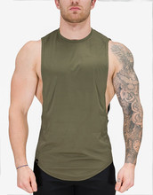 OEM custom tank top men dry fit fitness tank top sringers