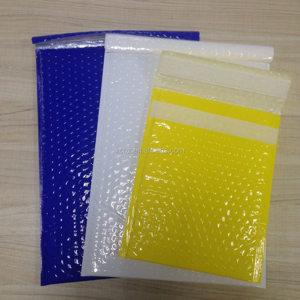 Glossy white aluminum foil air bubble bag/envelope/mailer