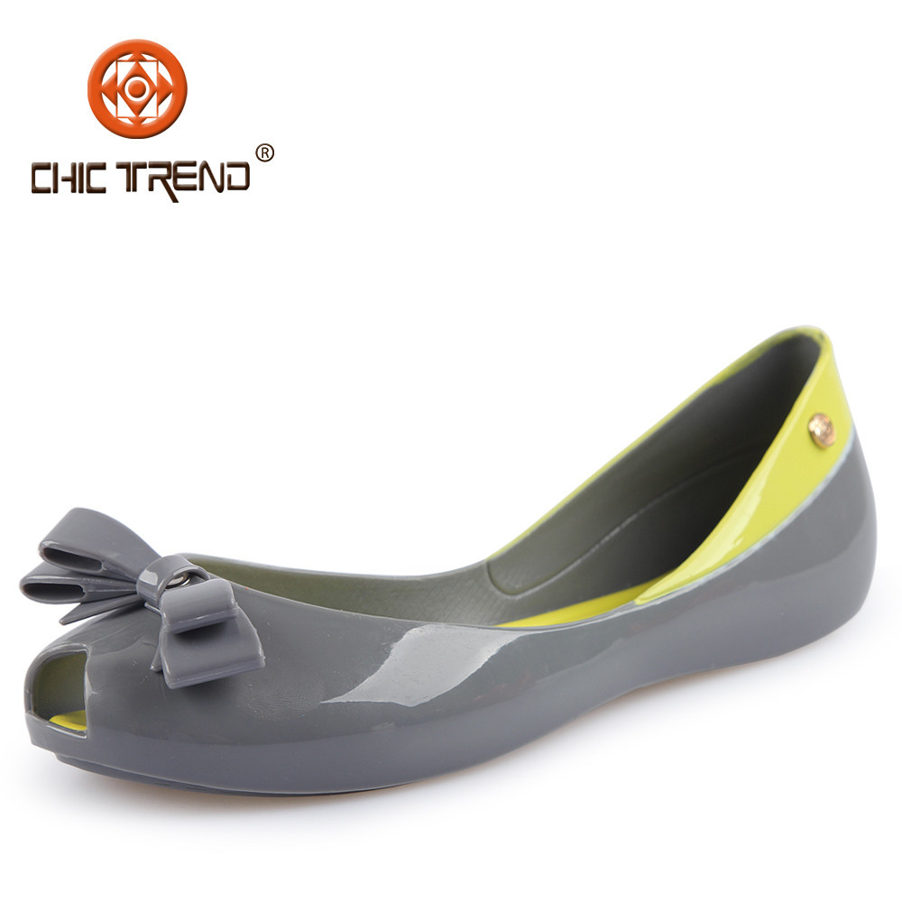 2015 new design crystal pvc jelly shoes comfortable flats melissa sandals plastic footwear with butterfly