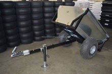 Heavy duty log trailer for atv