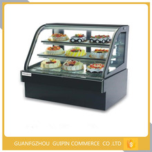 Commercial cake display refrigerator with imported compressor