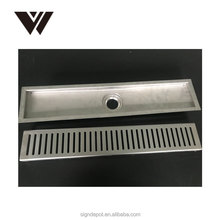 Weldon 800mm long anti-odor stainless steel 304 linear shower drain with flange
