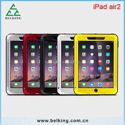 For iPad Air 2 Waterproof/shockproof/dustproof case, for iPad Air2 love mei case metal