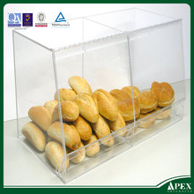 Bulk bread storage display case 2 containers MW-114