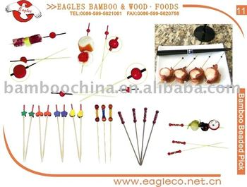 Bamboo skewer for BBQ cake fruit and candy