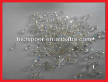 Iridescent clear glass beads