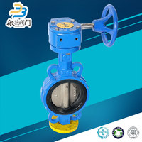 Gear Butterfly Valves With Pneumatic Actuator