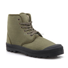 New french style fahion canvas boots army green military boots