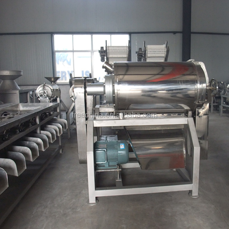 High efficient commercial fruit and vegetable pulping machine/apple pulp maker machine