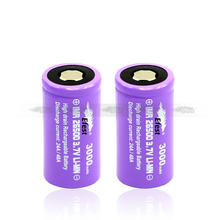 Hottest Efest Purple IMR 26500 3000mah rechargeable 3.7V li-mn 26500battery new purple efest 26500 battery high drain 26500