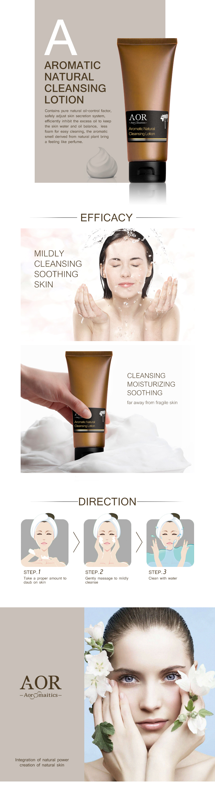 Wholesale Aromatic Natural Cleansing Lotion for Skin balancer Skin regulator facial cleanser