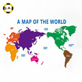 Acrylic Meterial andNew Style Map of the World for Home Decoration
