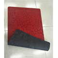 Customized rubber floor mat with fabric top for indoor, room, hotel