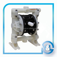 High flow double diaphragm pump with PTFE diaphragm for liquid transfer