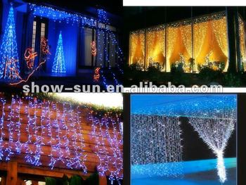 360 LED Chasing Curtain Lights LED Christmas Lights Sale, View LED ...