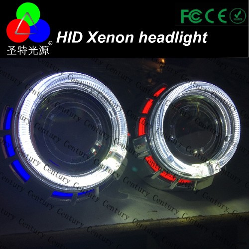 led headlight bajaj ct100 motorcycle headlight with ccfl angel eyes in auto parts