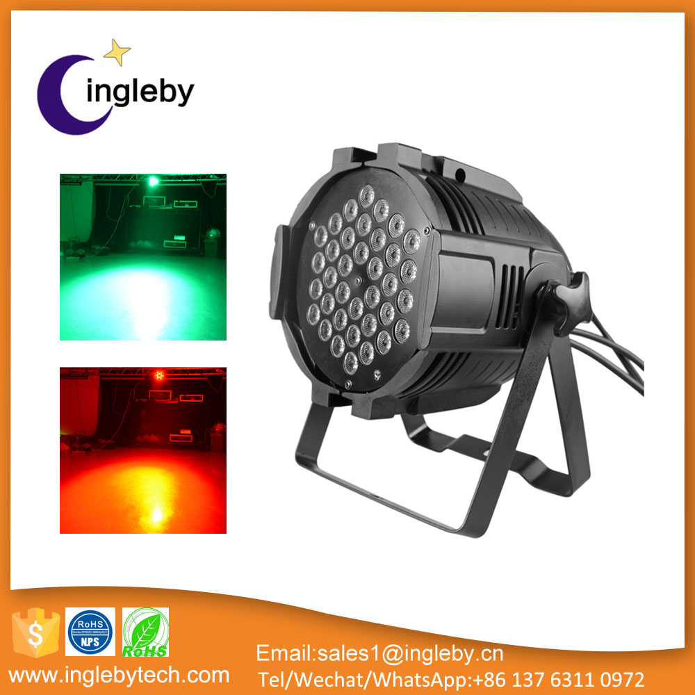 36pcs 3W RGBW Stage LED Par Light (R12/G12/B12) for christmas/party/dj/bar/club/Show