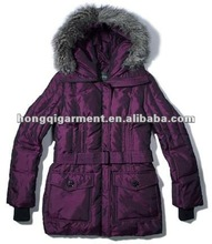 Ladies Winter down jacket garment for snow