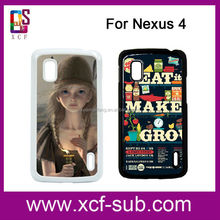 2d Blank Sublimation Phones Case For Google Nexus4