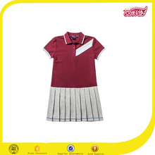 kids school uniform manufacturers mixed cotton sports dress model polo dress for girls