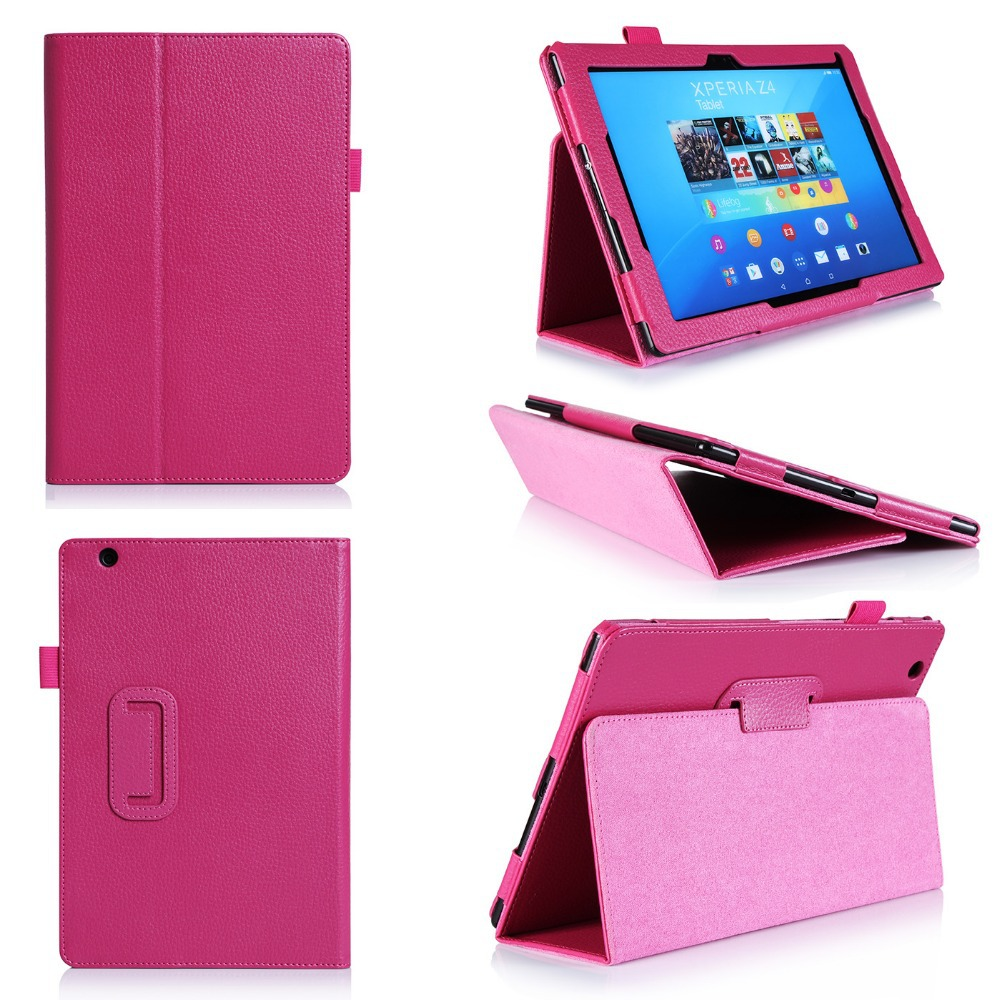 Leather Shockproof Cover For Girls Beauty Flip Tablet Case For Sony Z4 10.1inch